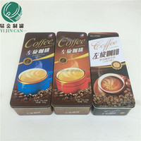 attractive appearance rectangular metal coffee boxes