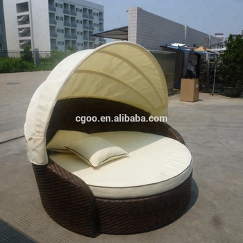 Synthetic Rattan Outdoor French Furniture Philippines Canopy Bed Chair