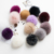 Customized Color Fox Fur Pom Pom Keychain Bag Pendant