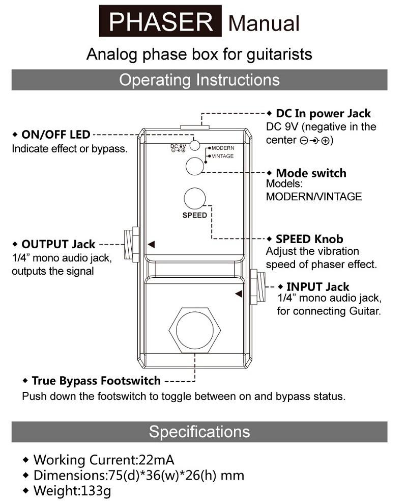 hottest phaser effect pedal ln 313 jazz guitar pedal buy guitar pedal jazz guitar effect pedal. Black Bedroom Furniture Sets. Home Design Ideas