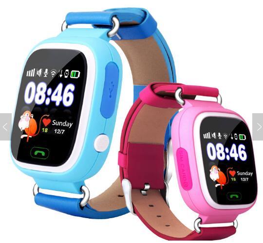 78624e58c0 Tracking gps orologio touch screen SOS Chiamata di Telefono WIFI GPS  intelligente orologio per bambini q90