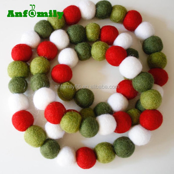 Felt Ball Vintage Christmas Pom Pom Garland Holiday Mantle Decor Buy Felt Ball Christmas Garland Christmas Garland Felt Ball Garland Product On