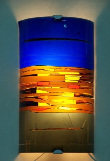 Art Glass Applique Wall Lamp