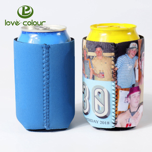 Promotional Neoprene Convenient Collapses Can Cooler Economy Pocket Coolies Glass Cooler