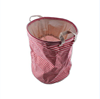 GW1Cartoon Household Laundry Storage Basket Foldable Clothes Toys Storage Barrels Bucket Bin Pop Up Storage-Red Stripe