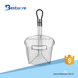 2017 Hot Grill Fritar Wire Mesh French Fries Copper Wire Basket