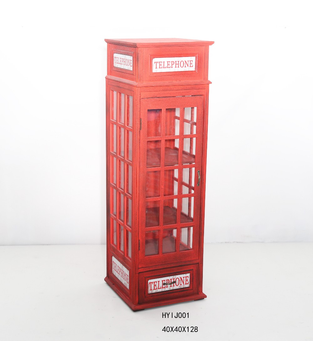 Antique Red Wood Phone Booth Curio Cabinet Stand   Buy Wood Phone  Booth,Antique Red Wood Phone Booth,Red Wood Phone Booth Cabinet Product On  ...