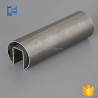 sus304 stainless steel u ss channel handrails tube for outdoor stairs