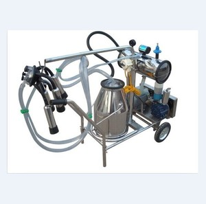 Single Bucket Vacuum Pump Milking Machine Used in Small Farms and Households