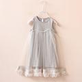 new 2016 fashion style summer Girls baby tassel dress children mesh dresses for girl children clothing