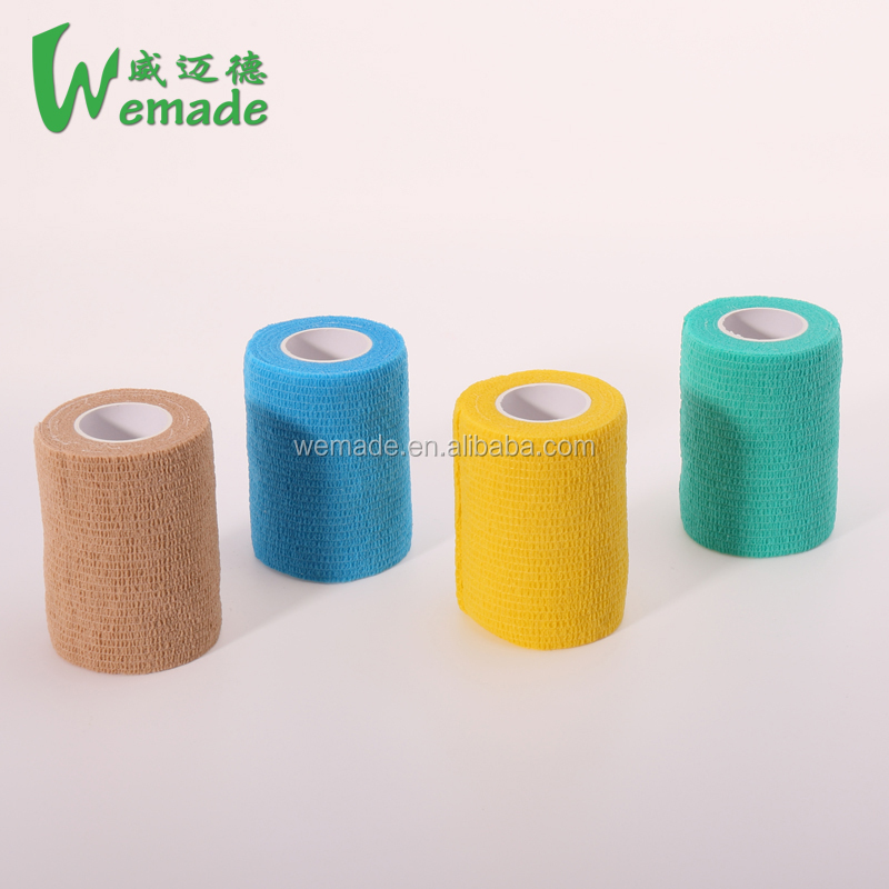 Medical factory 4.5M Colored Self-Adhesive Non-Woven Cohesive Bandage Adhesive Elastic Bandage