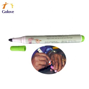 Indelible ink marking pen for election voting