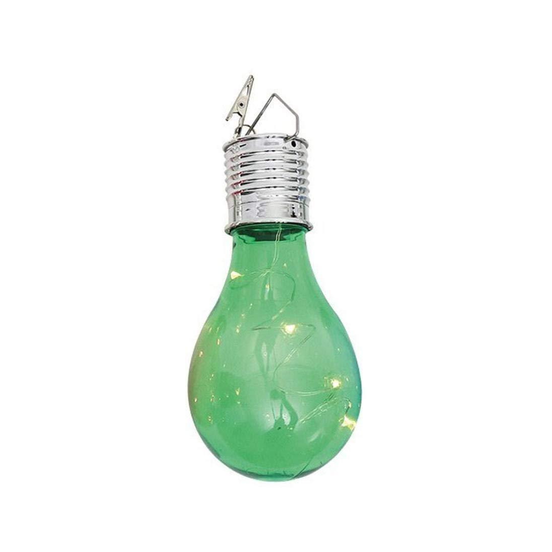 Yezijin Light Bulb, String Light, Waterproof Solar Rotatable Outdoor Garden Camping Hanging LED Light Lamp Bulb (Green)