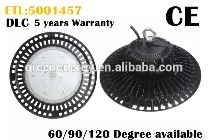DLC ETL CE led hibay light 100W 150W 200W 240W IP65 ufo led high bay light industrial