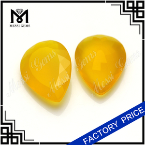 Best Selling Products 13x18MM Yellow Natural Agate Beads For Ring