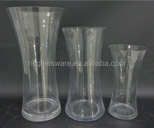 eco-friendly Tall Slim Clear Cylinder Glass Vases for Decoration