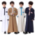 In stock popular arabian children thobe jubah kids abaya comfortable boys wear muslim kaftan kimono maxi dubai kids abaya