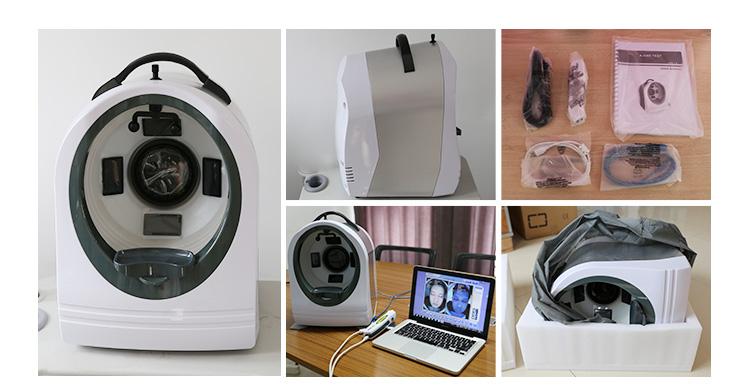 Professional 3D image available dermatoscope skin analyzer