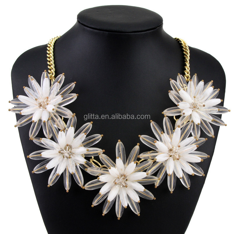 2015 Newest Fashion Flower Chunky Choker Women Name Necklace14324125
