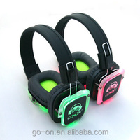 RF-309 Wireless Silent Disco Headphones with Folding design for party