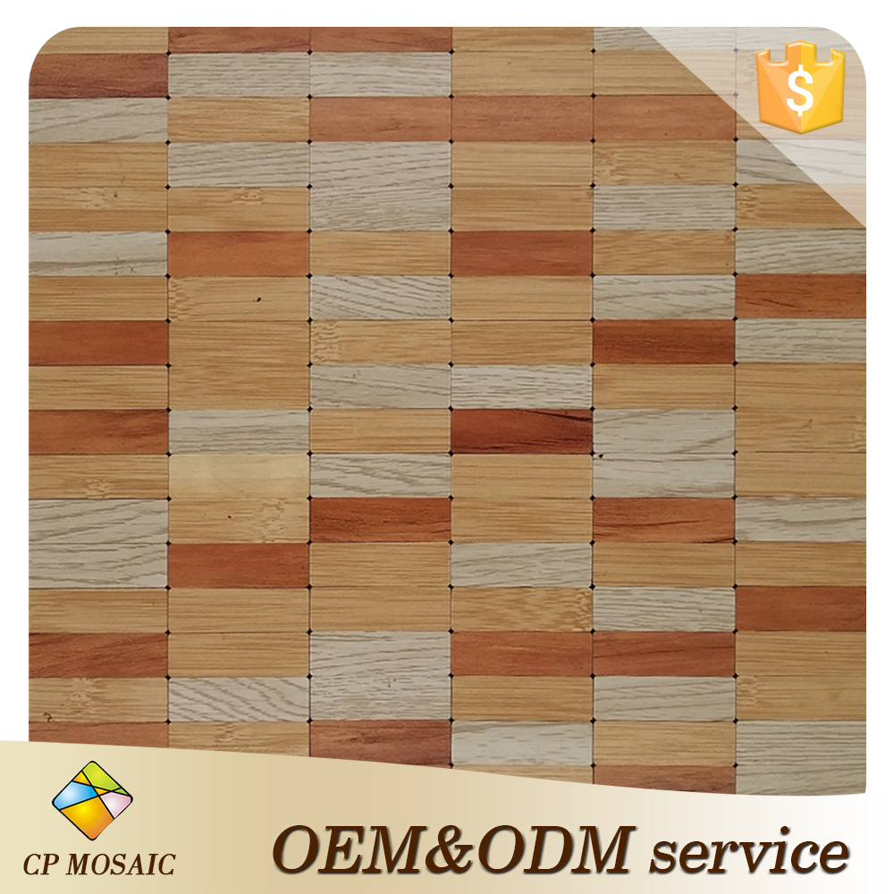 China Manufacturer Hot Sale 2 Types Wood Mosaic For Home Decoration