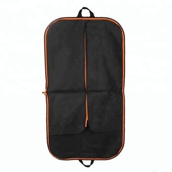 Custom Luxury Non Woven Polypropylene Black Wedding Dress Suit Cover Bag Whole Travel Nonwoven Foldable Cloth Garment Printed