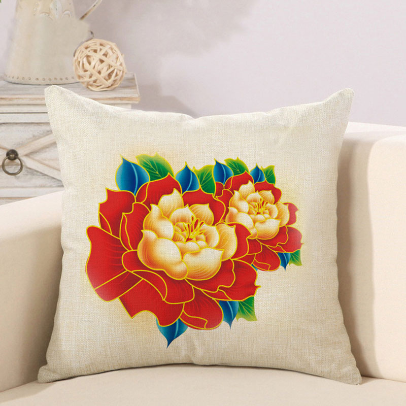 Remarkable Nature Flower Cotton Polyester Linen Pillow Case Sofa Couch Throw Cushion Cover Home Decor Pillows Covers Buy Leather Sofa Seat Cushion Creativecarmelina Interior Chair Design Creativecarmelinacom