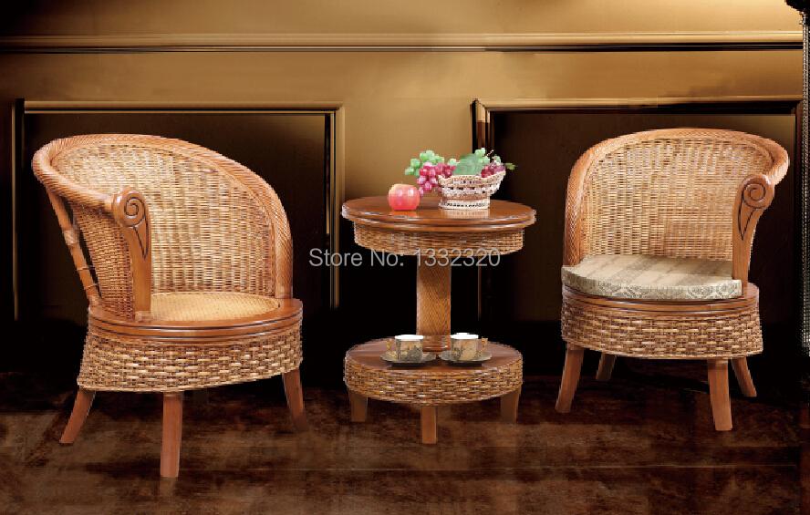 rattan furniture dining room combination dining table tea