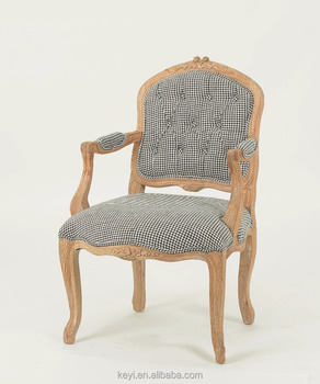 Upholstered Hand Carved Fancy Retro Style Living Room Chair/Vintage French  Style Wood Armchair (
