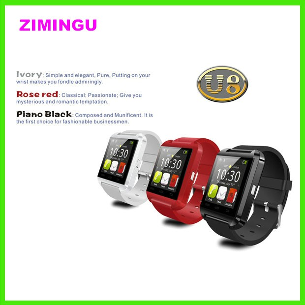 Cheap wrist watch U8, DZ09,new smart watch for huawei mobile phone