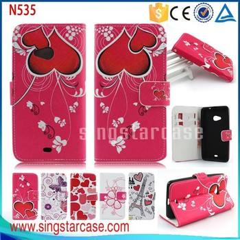 buy online e4ed1 c6198 For Nokia Lumia 535 Flip Cover Wholesale Printed Stand Wallet Leather Case  Cover For Nokia Lumia 535 - Buy For Nokia Lumia 535 Flip Cover,Wallet Case  ...