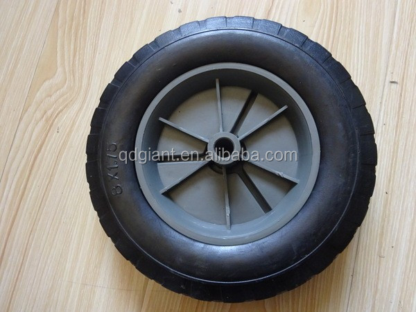 "solid rubber wheels for kids wagon cart 8""x1.75"""