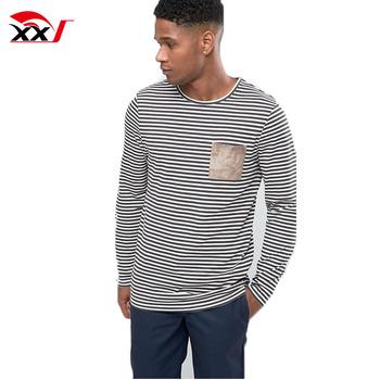 46ac912954 2017 custom christmas stripe t shirt men black and white striped long  sleeve t-shirt