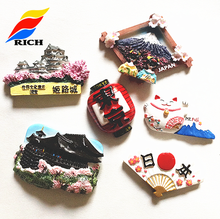 Hot sale Japanese tourist souvenir custom resin 3d fridge magnet
