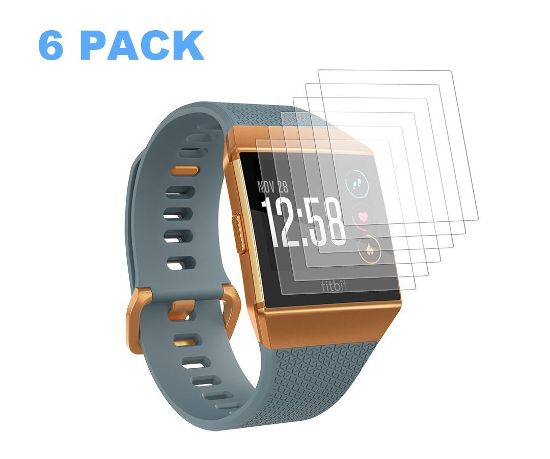 C-tree Screen Protector 6 Pack Replacement for Fitbit Ionic - Fitbit Ionic Screen Protector Full Coverage Screen HD Clear Film Anti-Bubble Shield Fitbit Ionic Smart Watch, if Applicable.