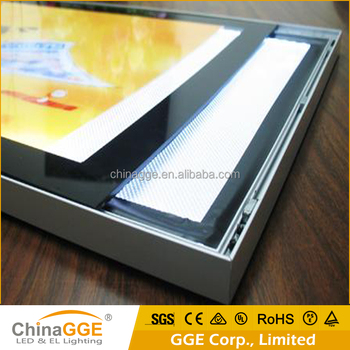 18mm Edgelight Magnetic Aluminum Frame LED Slim Display Light Box Frame Rubber Suck Open Magnetic Slim Light Box