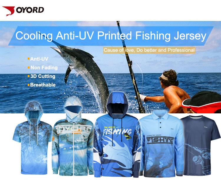 Custom design stand zipper collar men breathable long sleeve UV protection quick dry blank fishing shirts