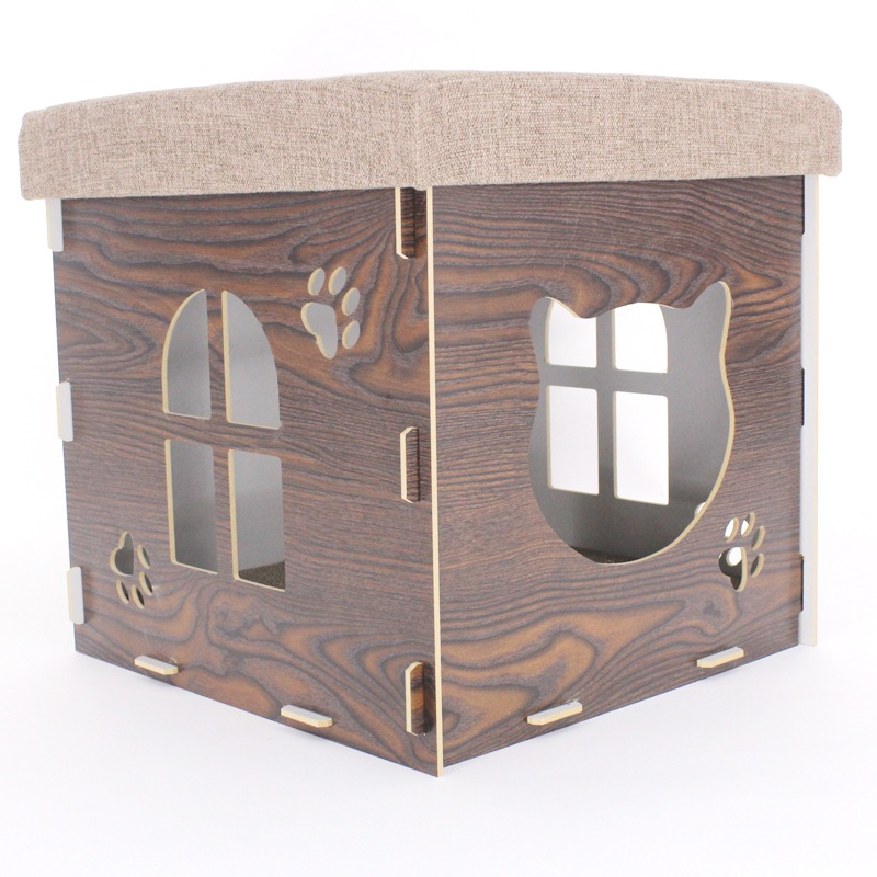 Manufacturer China All Seasons Wooden Cat Play House From Top Ten
