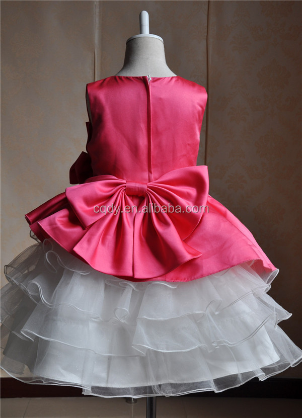 2015 Latest Design Kids Party Wear Dresses For Girls Fancy