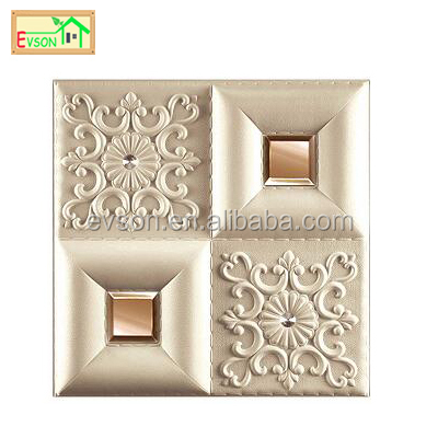 3d faux leather wall panels