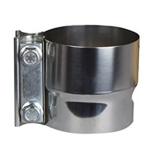 "2.5"" Lap Joint Exhaust Band Clamp Preformed Stainless Steel"