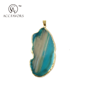 wholesale cheap new arrival fashion agate slices pendant for gift