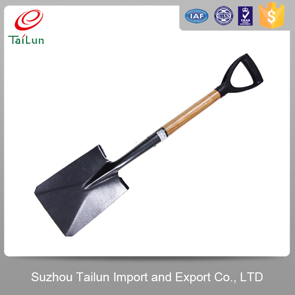 TaiLun Plastic Coated Quenching Carbon Shovel With Plastic Grip Wood Handle