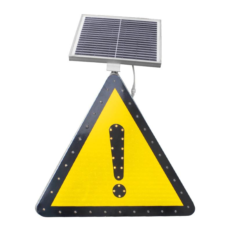 triangle round LED yield traffic control sign board