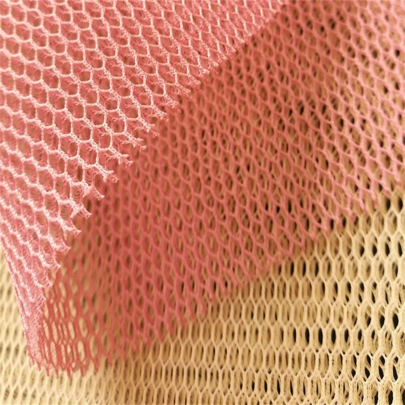100%polyester knit fabric,breathable mesh 3d air spacer mesh fabric