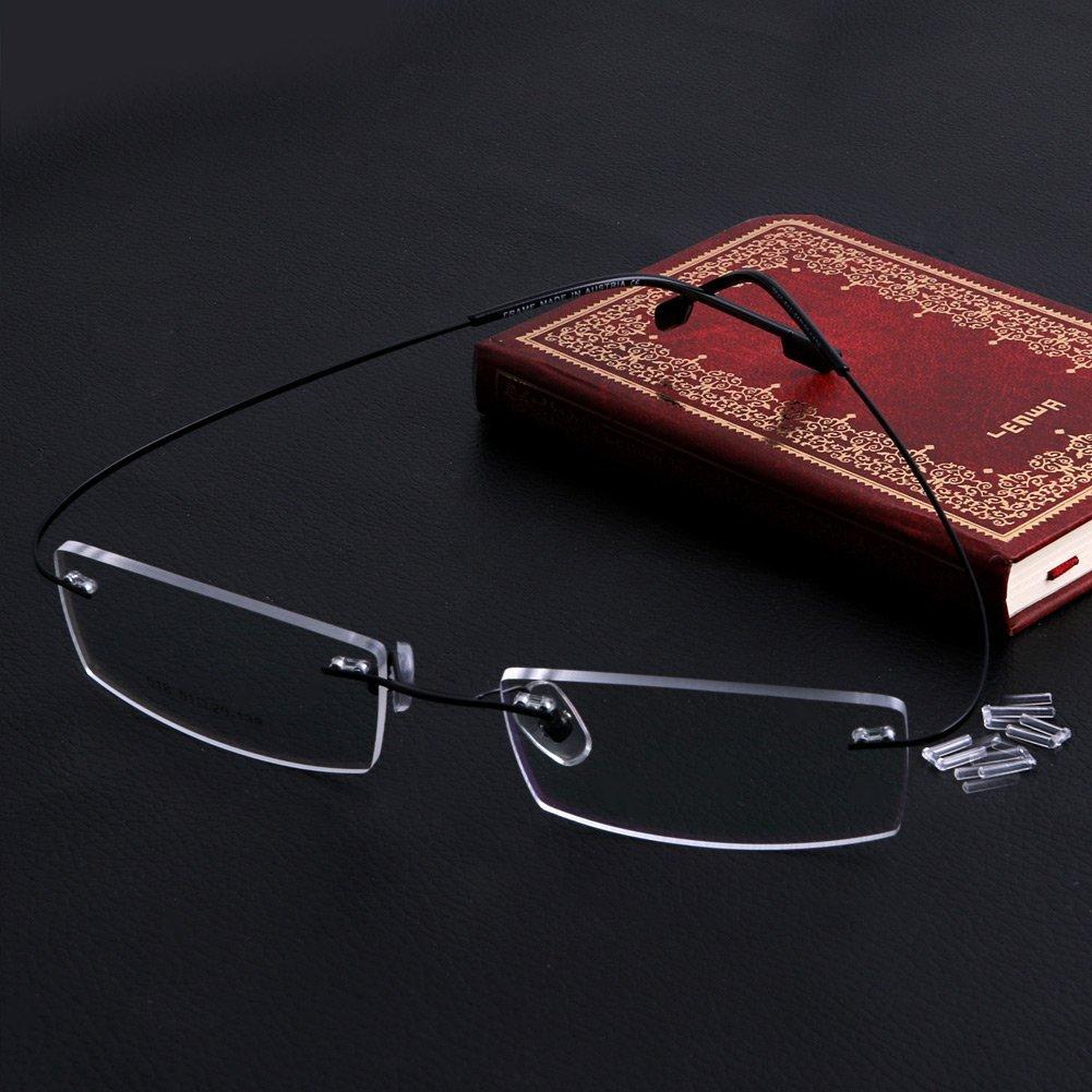 baae1dda245 Get Quotations · MEXUD-Fashion Metal Rimless Eye Glasses Eyeglasses Frame  Spectacle Frames