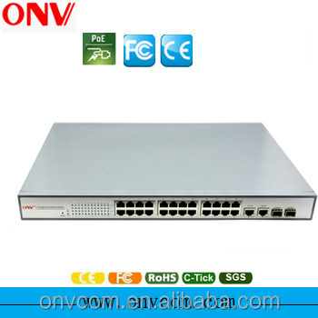 24 port enterprise poe network vpn switch 650W POE31024PF