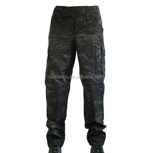 Factory Price Army Black Men Camouflage Pants