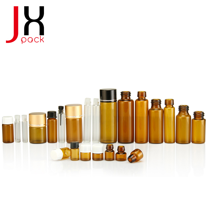 Wholesale 3ml Amber Vial 2ml 4ml Small Glass Vial With Dropper Perfume Sample Bottle