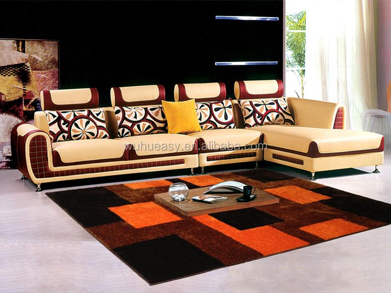 2017 Orange Black Modern Blocks Carpets And Rugs With Fashion Design